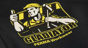 Mit PERMA Workwear Textildruck Transfer Softshell Jacken bedrucken
