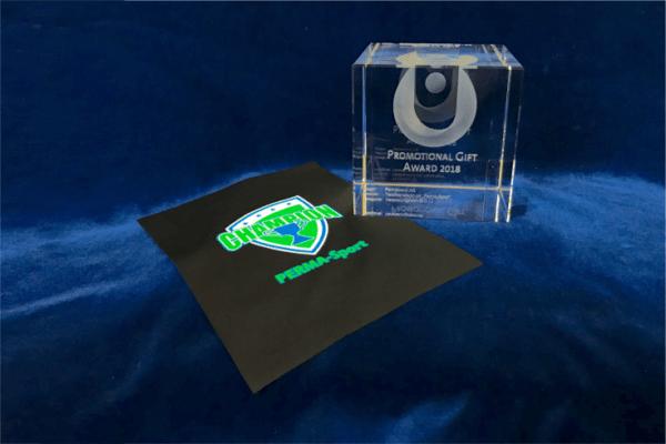 Promotional Gift Award für PERMA Sport Textildruck
